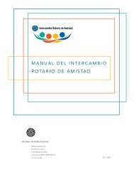 Manual del IntercaMbIo rotarIo de aMIstad - Rotary International