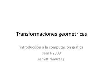 Transformaciones Geométricas - GIAA