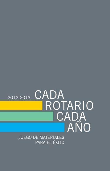 JUEGO DE MATERIALES PARA EL ÉXITO - Rotary International