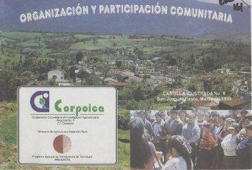 Organización y participación comunitaria para ... - Agronet