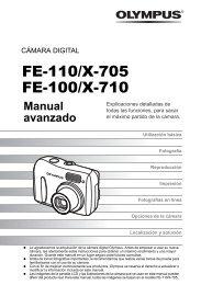FE-110 X-705 FE-100 X-710 Manual Avanzado ES - Olympus America