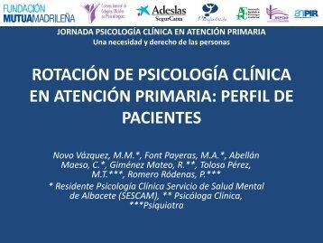JORNADA PSICOLOGÍA CLÍNICA EN ATENCIÓN PRIMARIA Una ...