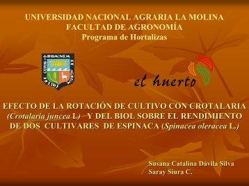Efecto de la rotación de cultivo con crotalaria - Universidad Nacional ...