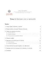 Tema 5. Dinámica de la rotación - OCW Usal - Universidad de ...