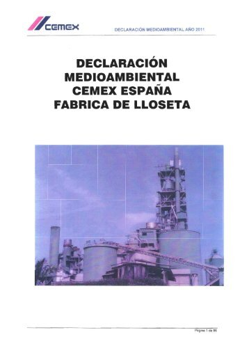FABRICA DE LLOSETA - Cemex