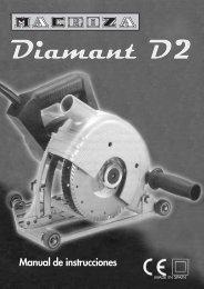 Manual de instrucciones - MACROZA: Máquinas rozadoras