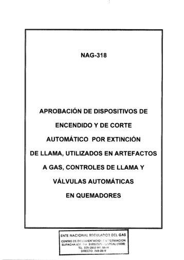 NAG-318 - Ente Nacional Regulador del Gas