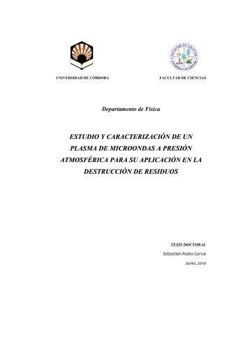estudio y caracterización de un plasma de microondas a presión ...