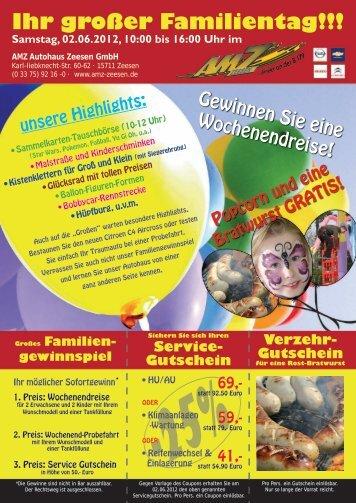 Ihr großer Familientag!!! - AMZ Autohaus Zeesen GmbH