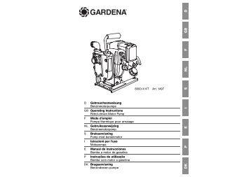 OM, Gardena, Bomba a motor de gasolina, Art 01497-20, 2004-01