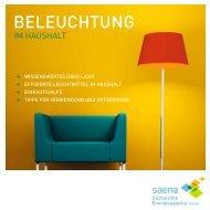 Beleuchtung im Haushalt - Sächsische Energieagentur