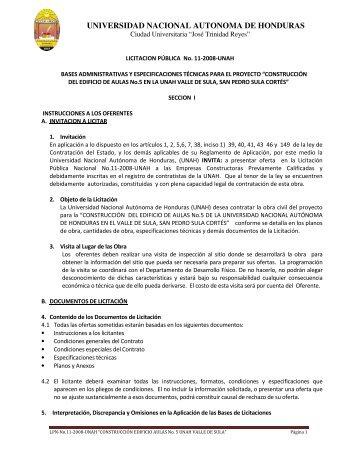 universidad nacional autonoma de honduras - HonduCompras