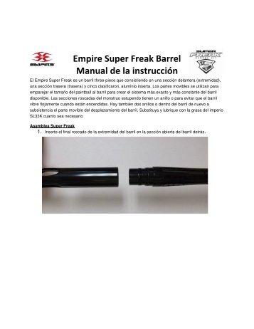 Empire Super Freak Barrel Manual de la instrucción - Paintball ...