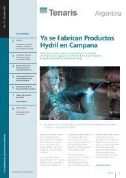 Ya se Fabrican Productos Hydril en Campana - Tenaris