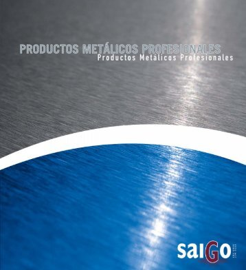 Catalogo de productos metalicos - Saigo