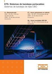 Sistemas de bandejas portacables de rejilla - OBO Bettermann