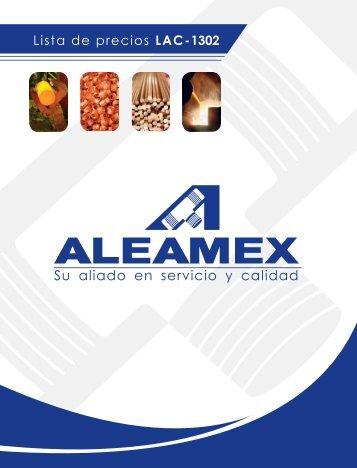 Lista de precios - Aleamex