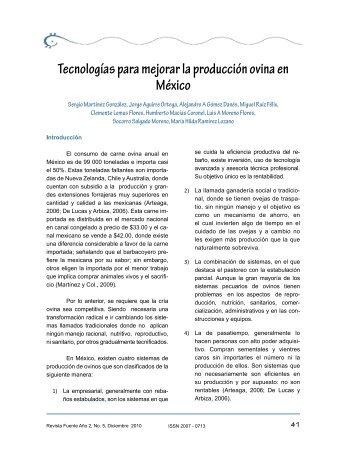 Tecnologías para mejorar la producción ovina en México