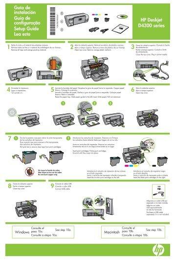 HP Deskjet D4300 series Guía de instalación Guia de configuração ...