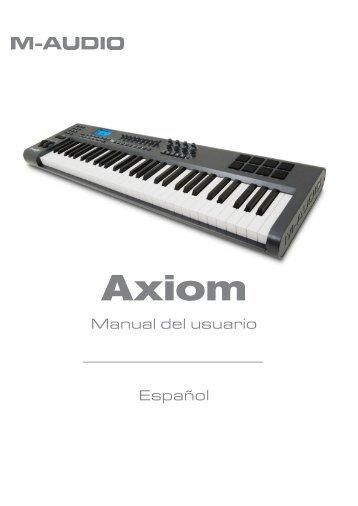 Manual de instrucciones de Axiom - M-Audio