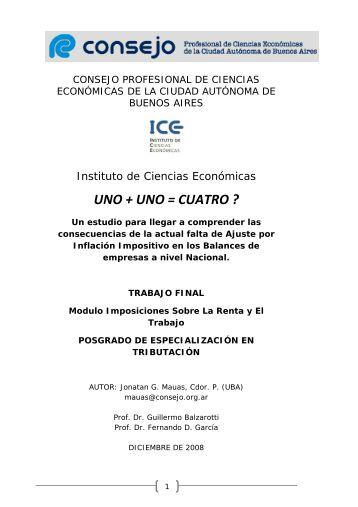 uno + uno = cuatro - Estudio Contable Villa Urquiza, Impositivo ...