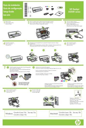HP Deskjet D2500 series Guía de instalación Guia de configuração ...