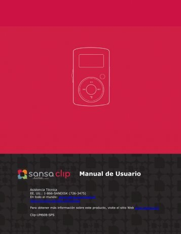 Manual de Usuario - SanDisk