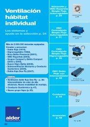 Catálogo ALDER Ventilación individual