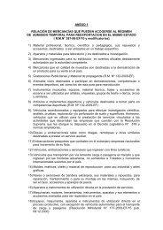 ANEXO 1 RELACIÓN DE MERCANCÍAS QUE PUEDEN ... - Siicex
