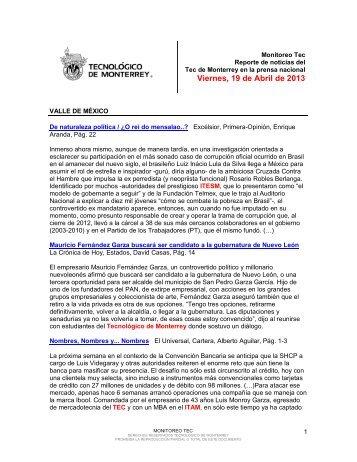 Apr 19, 2013 12:48:06 PM - Tecnológico de Monterrey