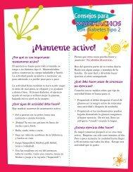 Mantente activo! - National Diabetes Education Program