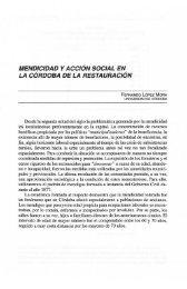 mendicidad y acción social en la córdoba de la restauración - Helvia ...