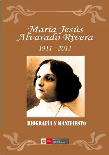 María Jesús Alvarado Rivera - Ministerio de la Mujer y Poblaciones ...