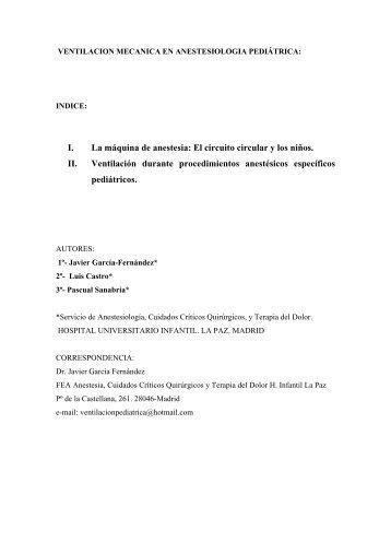 VENTILACION MECANICA EN ANESTESIOLOGIA (2ª ED - Aymon
