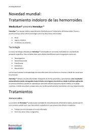 Noedad tratamiento Hemorroides, fisuras y prurito - Hemobye