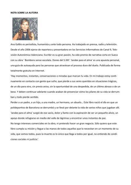 Ana Galbis - Jarabe para el Alma