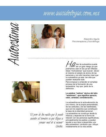 Autoestima - Suicidologia.com.mx