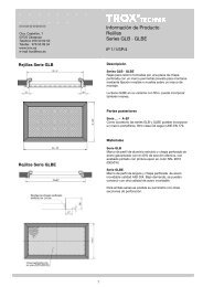 Información de Producto Rejillas Series GLB · GLBE - Trox