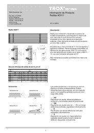 Información de Producto Rejillas AEH11 - Trox