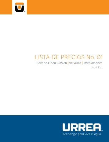 lista de precios válvulas 2012 - URREA