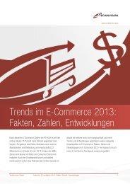 Trends im E-Commerce 2013: Fakten, Zahlen, Entwicklungen