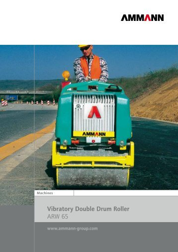 Vibratory Double Drum Roller ARW 65 - Ammann Group
