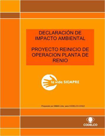 DIA Reinicio Operacion Planta Renio REV1 obsDCN
