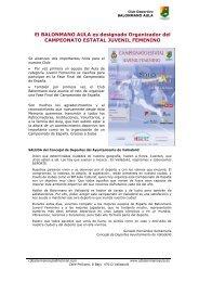 Fichas Memoria - Club Deportivo Balonmano Aula