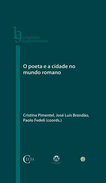 O poeta e a cidade no mundo romano - Universidade de Coimbra