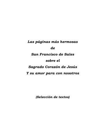 Las páginas más hermosas de San Francisco de ... - Corazones.org