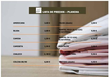LISTA DE PRECIOS – PLANCHA - factorycolors.net