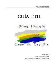 Guía útil del GP Canal de Castilla - Plataforma Recorridos Ciclistas