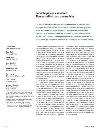 Bombas eléctricas sumergibles - Schlumberger