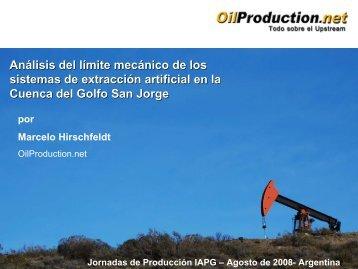 Análisis del límite mecánico de los sistemas de ... - OilProduction.net